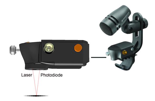 Sennheiser laser mic clip image