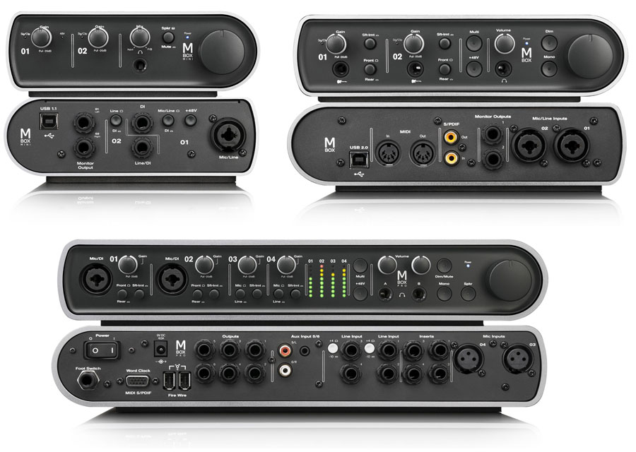 recording avid announces the all new redesigned pro tools mbox family pro sound web. Black Bedroom Furniture Sets. Home Design Ideas