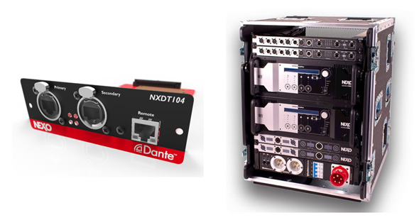 Nexo launches stm line array new amplifiers processing for Yamaha dante card