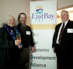 John and Helen Meyer accept the 2014 Award for Engineering and