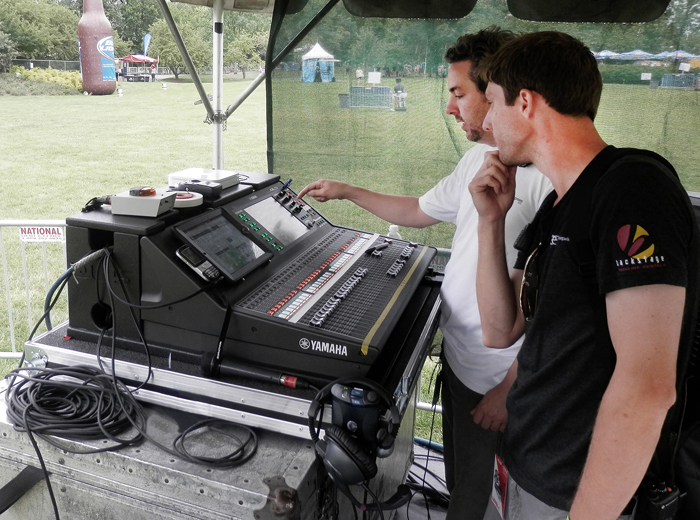 Step by step a growing company does festival double duty for Yamaha ql 3