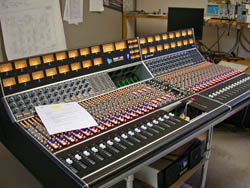 Steve Miller's API 1608 console being prepared for shipping.