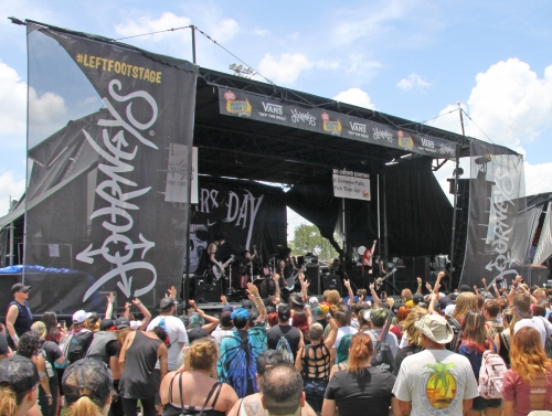 warped tour 17 on the ground at a stop of a venerable music