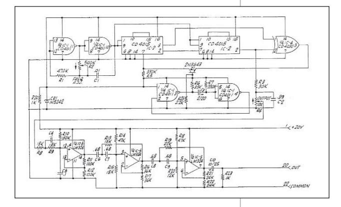 Sensurround pseudorandom generator circuit